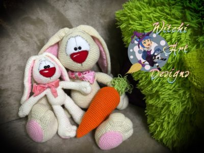 XXL dolls: Play with Chick & Bunny Baby amigurumi on Easter | 300x400